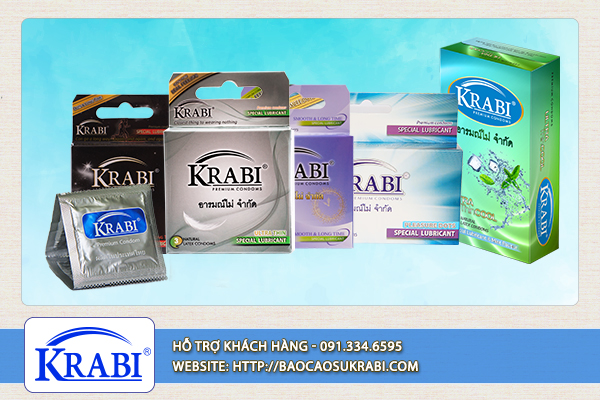 Bao cao su Krabi sở hữu nhiều thiết kế độc đáo.