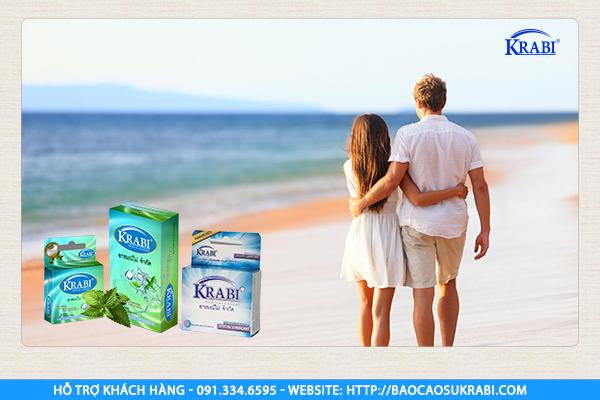 Bao cao su Krabi siêu mỏng hương bạc hà cho cuộc yêu mát lạnh đầy hưng phấn.