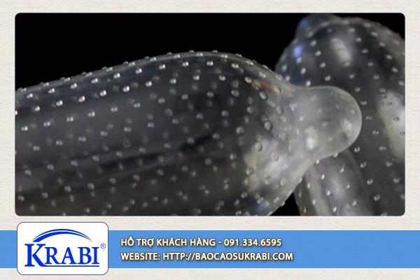 Bao cao su Krabi sở hữu công nghệ bơm hơi trên từng nốt gai.